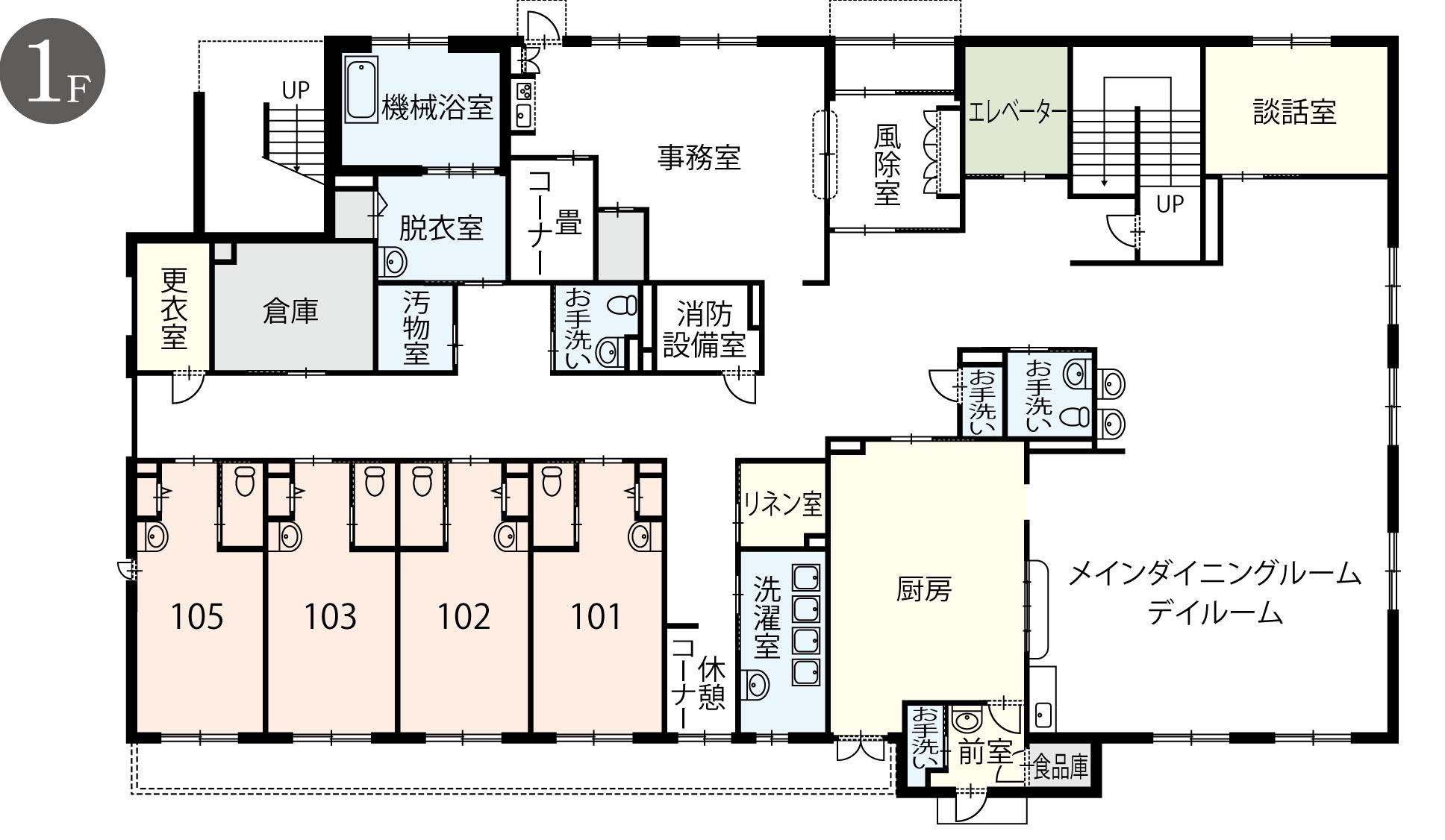 1階 館内案内図