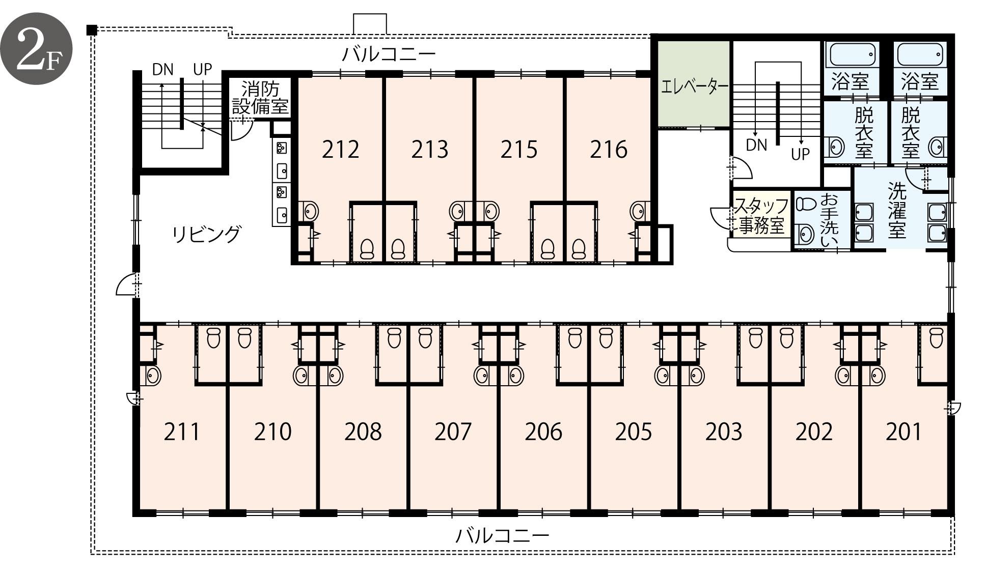 2階 館内案内図